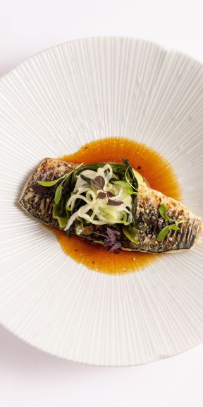 Flame Grilled Mackerel